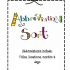 Abbreviation Sort (Locations, Days, Titles, Months)