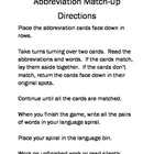 Abbreviations All Around Us Station Folder Game for Daily Five
