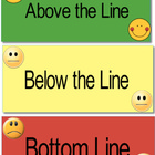 Above the line, Below the line, Bottom Line mini chart