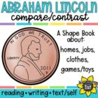 Abraham Lincoln Compare Contrast Writing Shape Book Craftivity