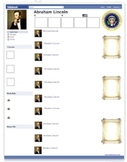 Abraham Lincoln Presidential Fakebook Template