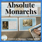 Absolute Monarchs Age of Absolutism Centers & Response Activity