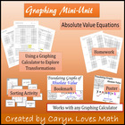 Absolute Value Translation Investigation Worksheet~Graphin