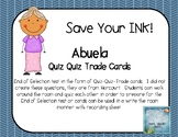 Abuela Quiz Quiz Trade Cards - Harcourt Trophies 2nd