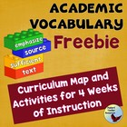 Academic Vocabulary Interactive Program Free Complete 4 Word Set
