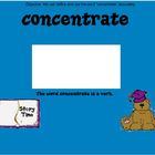 Academic Vocabulary SMART file Concentrate