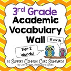 Academic Vocabulary Word Wall - Tier Two Words - 3rd Grade