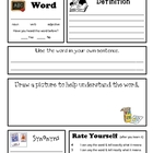 Academic Vocabulary Word Work Form
