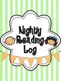 Accelerated Reader Nightly Homework Log