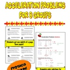 Acceleration Problems for 8 groups