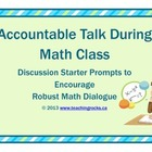 Accountable Talk in Math Sentence Starter Prompts
