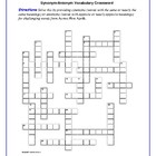 Across Five Aprils: Synonym/Antonym Vocab Crossword--Use w