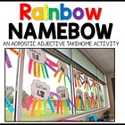 Acrostic Rainbow Name-bow