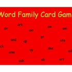Active Literacy Word Family Card Game