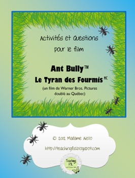 Activités et Questions for Ant Bully film French