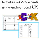 Activities and Worksheets for the ending sound –CK