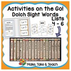 Activities on the Go!- Dolch Sight Words Lists 4-6