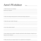 Actor's Character Worksheet