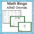Add, Subtract, Multiply, and Divide Decimals  Bingo