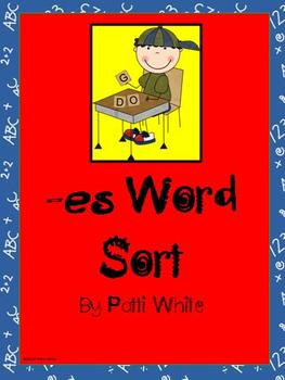 Add -es Word Sort