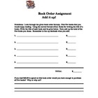 Add it Up!  Book Order Form Assignment