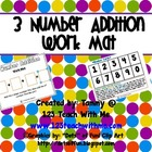 Adding 3 Numbers: Work Mat