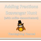 Adding Fractions Scavenger Hunt - Around the Room Math - T