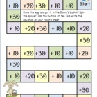 Adding Multiples of 10 Easter Game