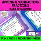 Adding & Subtracting Fractions with Unlike Denominators Ta