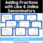 Adding and Subtracting Fractions Smart Board Lesson