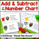 Adding and Subtracting on the Number Chart ~ Christmas Swe