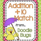 Addition +10 Math Fact Match / Pocket Chart Activity { fre
