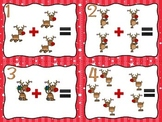 Addition Around the Room  {Differentiated--Christmas}