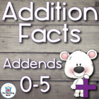 Addition Basic Facts 0-5's Addends Practice Sheets