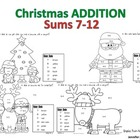Addition Christmas Mini Set 2 - Sums 7-12