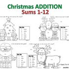 Addition Christmas Mini Set - Sums 1-12