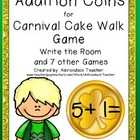 Addition Coins for Carnival Cake Walk Style Game Write the