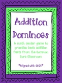 Addition Dominoes - Basic Addition Facts - 1st & 2nd Grade