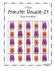 Addition Doubles Monsters Four-In-A-Row Game
