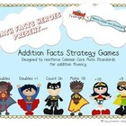Addition Facts Strategy Games