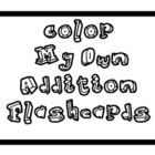 Addition Flashcards - Color My Own!!!  Super Cute!