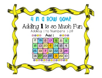Addition Game - 4 in a Row { Adding - Counting Up One}
