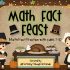 """Addition Math Facts Game- """"Math Fact Feast"""""""