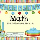 "Addition Math Facts Game- ""Pool Party"""