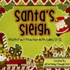 "Addition Math Facts Game- ""Santa's Sleigh"""