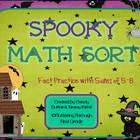 "Addition Math Facts Game- ""Spooky Sort"" {Halloween}"