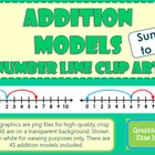 Addition  Model Number Line Clip Art - Common Core Math To