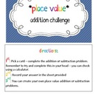 Addition - Place Value Review Challenge