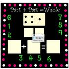 Addition-Polka Dots Domino Math SMARTboard