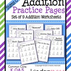 Addition Practice Pages {Sums 0-10}